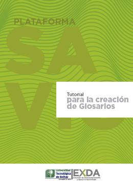 Creación de glosarios